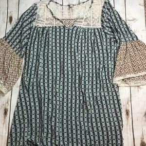 Umgee USA Peasant Boho Dress